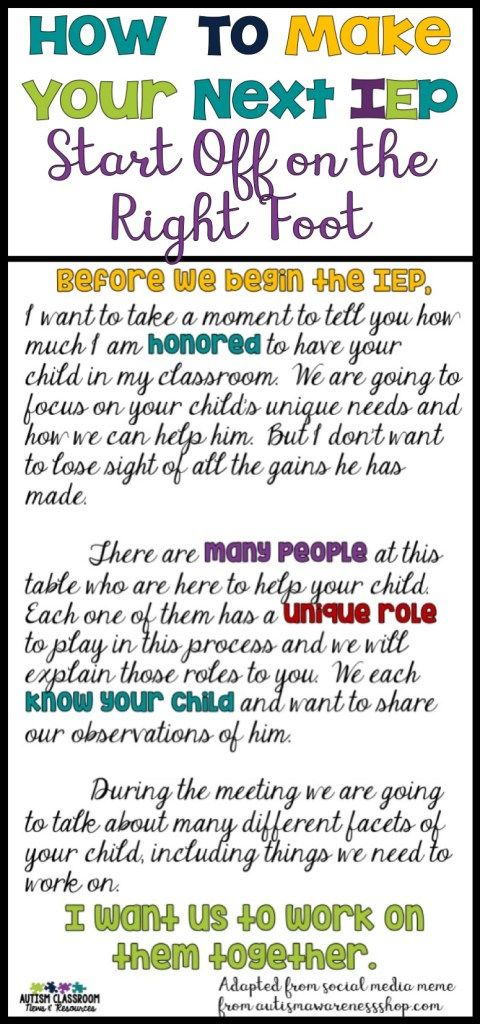 How to Make Your Next IEP Start Off on the Right Foot