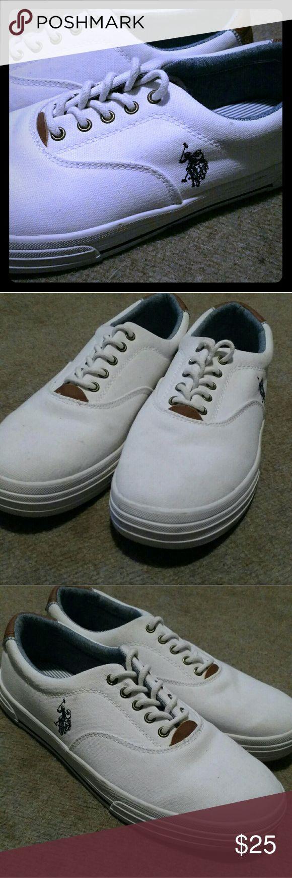 US Polo ASSN mens canvas shoes Men's size 9.5 canvas boat shoes Polo by Ralph Lauren Shoes Boat Shoes
