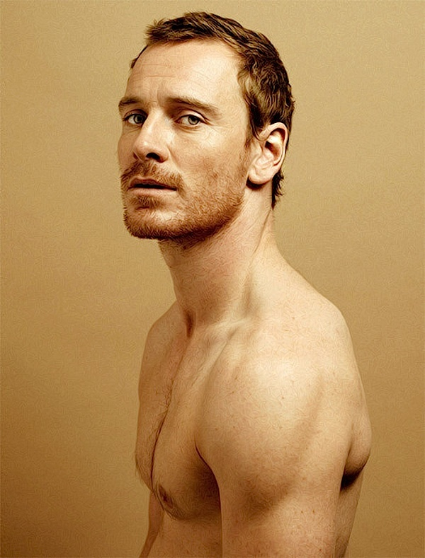 Michael Fassbender - crew shape with a little length