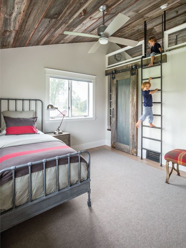 Modern Minnesota Farmhouse BedroomsLoft BedroomsKids