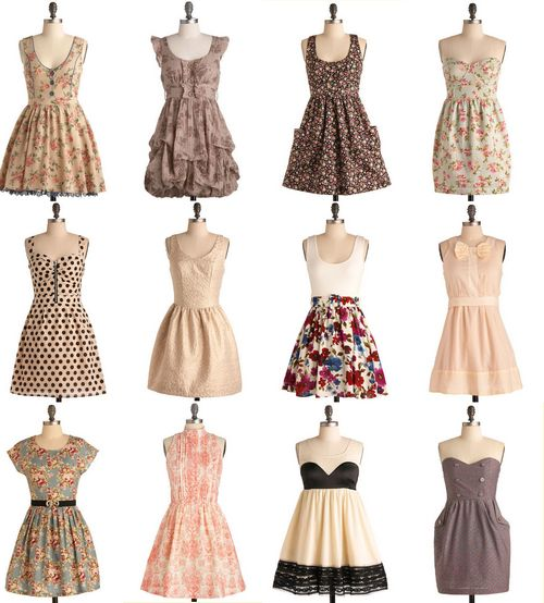 I love all of these dresses!