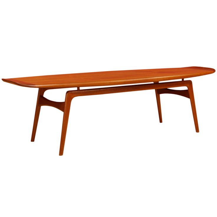 Arne Hovmand-Olsen; Teak Coffee Table for Mogens Kold Møbelfabrik, 1950s.