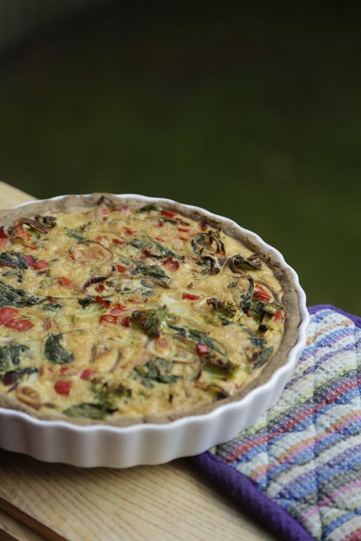 Vegetartærte grøntsagstærte, glutenfri & laktosefri