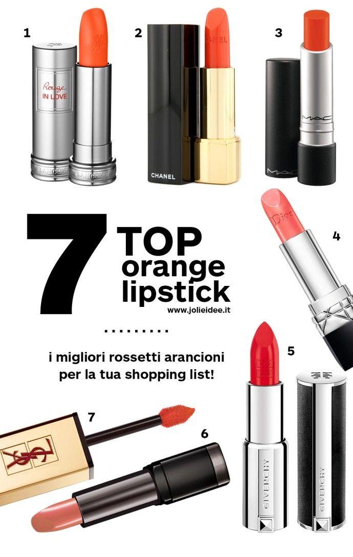 Rossetti Arancioni Primavera 2014 - Novità e Must Have per le labbra #lipstick #makeup #orange #fashion