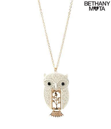 Owl Filigree Long-Strand Necklace Pinned by www.myowlbarn.com