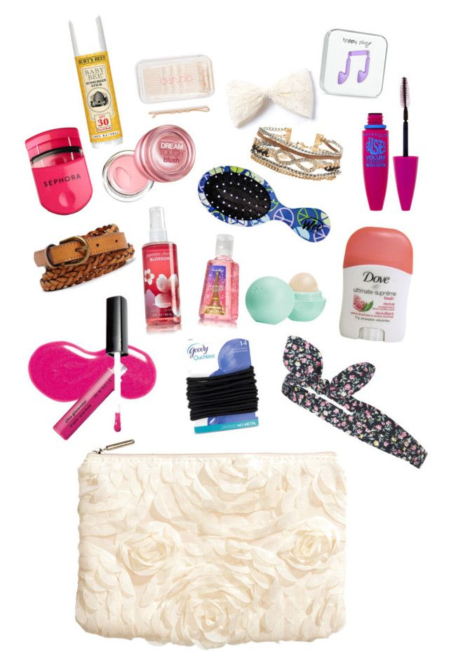 """""""What to Keep in a 6th/7th Grade Makeup Bag"""" by cat12103 ❤ liked on Polyvore featuring beauty, H&M, Avon, Topshop, Goody, Eos, Forever 21, Sephora Collection, Maybelline and Aéropostale"""