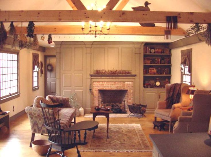 453 best primitive and colonial living rooms images on pinterest