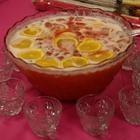 Sherbert Punch - everyone asks me to make this for various events... it's so easy and refreshing.  I usually use fruit punch, ginger ale and raspberry sherbert.