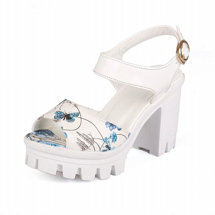 Latasa Women's Fahshion Flowers Print Platform Block High Heel Sandals >>> Check out the image by visiting the link.