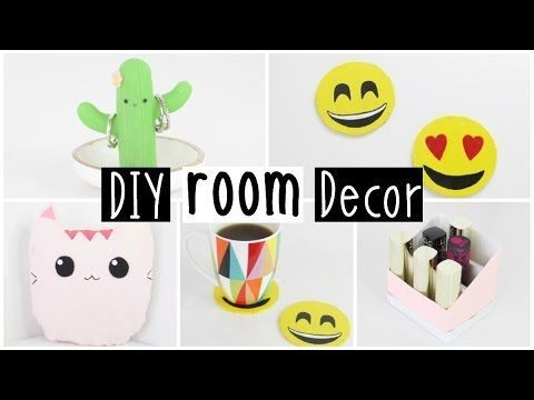 More diy room decor 2016 four inexpensive easy ideas for Diy room decorations youtube