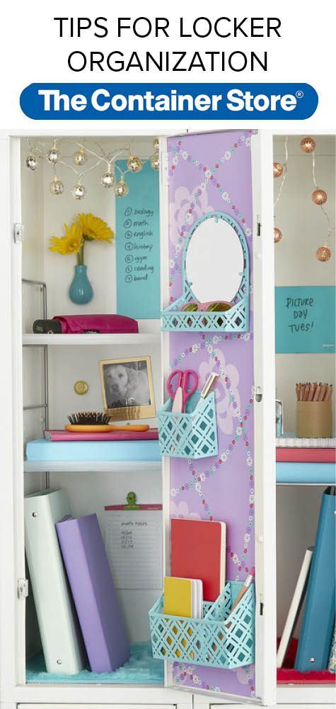 Follow these tips for fun and functional locker organization solutions and decoration that will help students keep their lockers organized the whole year through.