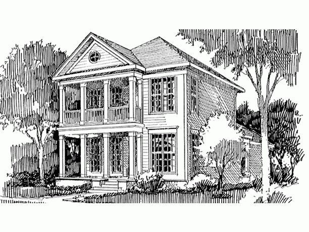 17 best images about greek revival home ideas on pinterest for One story greek revival house plans
