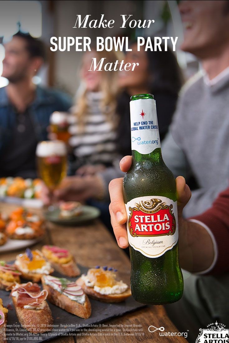 663 Million People Live Without Access To Clean Water Around The Globe While That S Difficult To Imag Stella Artois Beer Bottle Stella Artois Gluten Free Beer