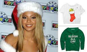 Beyoncé has released a line of holiday season-themed merchandise which is sure to help fans 'sleigh' this Christmas.