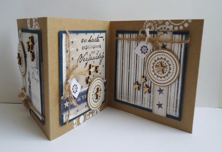Because it's fun to create...  Drieluik gemaakt met papier van Maja design