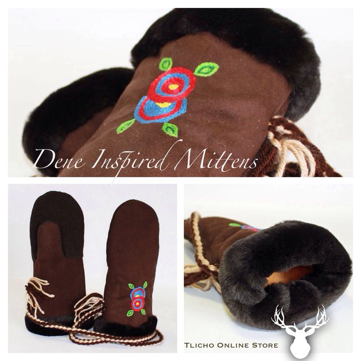 #Dene‬ ‪#‎Inspired‬ ‪#‎Mittens‬ by a ‪#‎Tlicho‬ from ‪#‎Behchoko‬, NT. Available here: http://onlinestore.tlicho.ca/products/dene-inspired-mittens