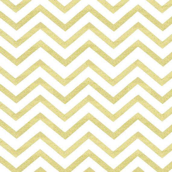 NEW Glitz Sleek Chevron Pearlized - Gold & White Metallic Zig Zag - Michael Miller Fabrics