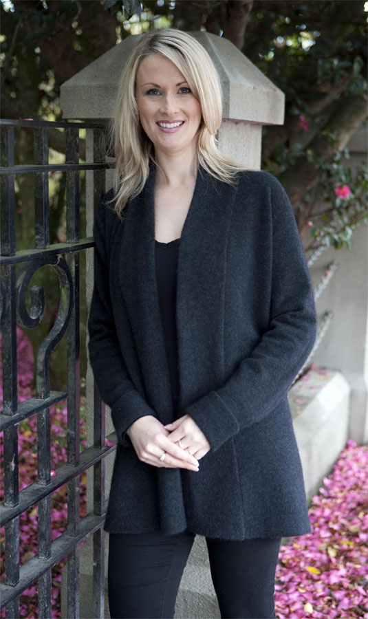 A lovely possum merino Charcoal Grey long line jacket. This is modern, warm, soft and comfortable. NZ$229