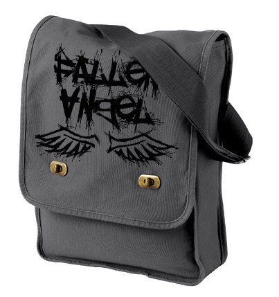 Fallen Angel Messenger Field Bag - pastel goth gothic lolita grunge punk creepy cute laptop bag vampire fantasy small messenger bag by gesshokudesigns on Etsy https://www.etsy.com/listing/219858260/fallen-angel-messenger-field-bag-pastel