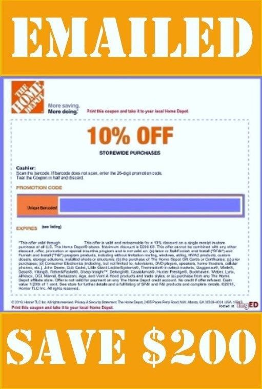 Other Home And Garden 181076 One X1 Home Depot 1coupon 10 Off Use In Store Only Save Up To 200 00 Buy It Now Only Home Depot Home And Garden Depot