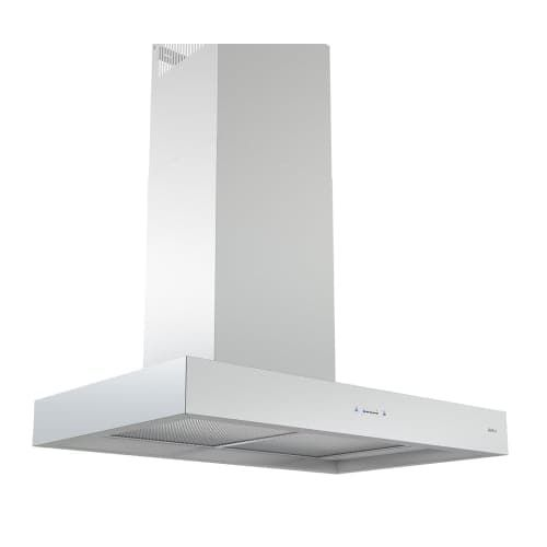 Zephyr ZRO-M90D 600 CFM 36 Inch Wide Wall Mount Range Hood with Centrifugal Blow, Silver stainless steel