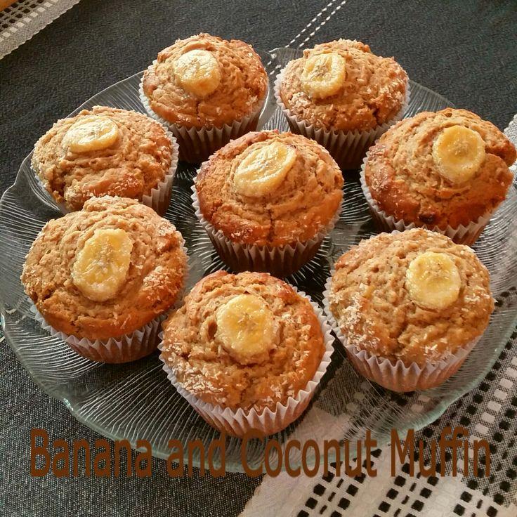 Banana and Coconut Muffin