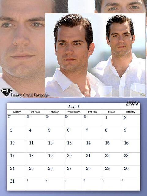 Henry Cavill Fanpage 2014 Calendar - August | Flickr - Photo Sharing!