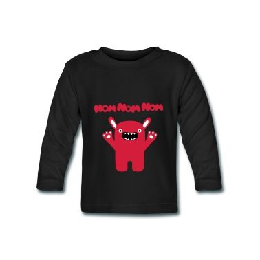 Tee shirt manches longues Bébé Om nom nom nom - Drôle & Cute Monster #cloth #cute #kids# #funny #hipster #nerd #geek #awesome #gift #shop Thanks.