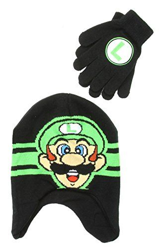 4f133d1ddbc4d ABG Nintendo Super Mario Brothers Boys Winter Beanie Hat and Gloves Set --  See this great product.(It is Amazon affiliate link)  BoysClothing