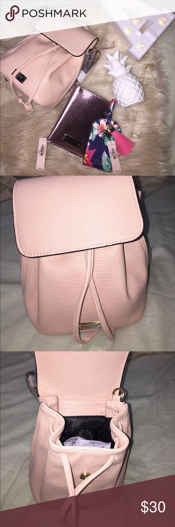 Victoria's Secret mini backpack. Light pink VS backpack. Brand new with tag. No trades. Victoria's Secret Bags Backpacks