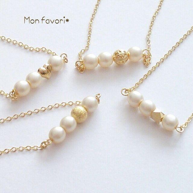 minne(ミンネ)| 選べる♡パールとゴールドのネックレス