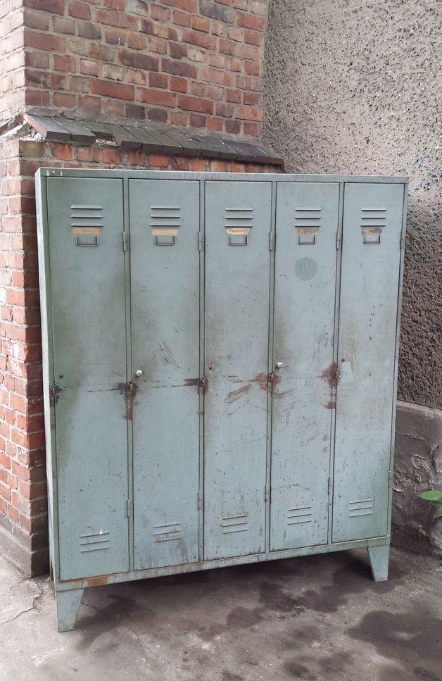 Spind Schrank Vintage Architektur Spint Schrank Metall Schrank Grau