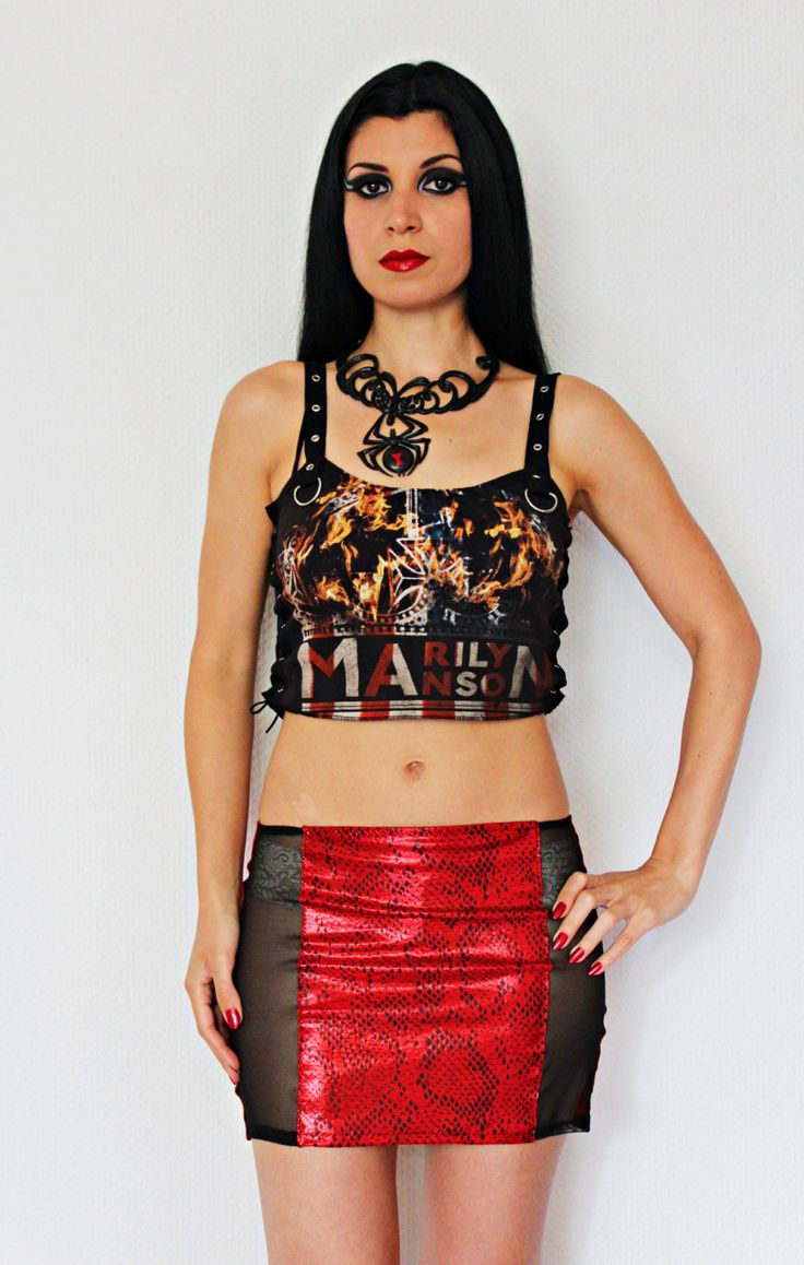 Marilyn Manson shirt crop top lace up metal alternative clothing apparel reconstructed rocker clothes altered band tee t-shirt by kittyvampdesigns on Etsy https://www.etsy.com/listing/238517800/marilyn-manson-shirt-crop-top-lace-up