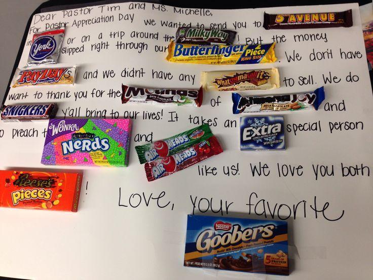 Pastor Appreciation Candy Card Crafts Pinterest