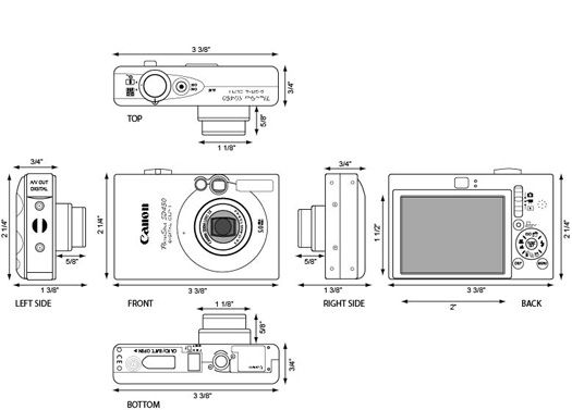 Orthographic Image of a Camera