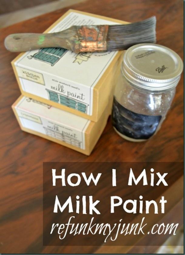 miss mustard seed   Hoe kan je Miss Mustard Seed's Milk Paint mixen? Door OldRedBarn