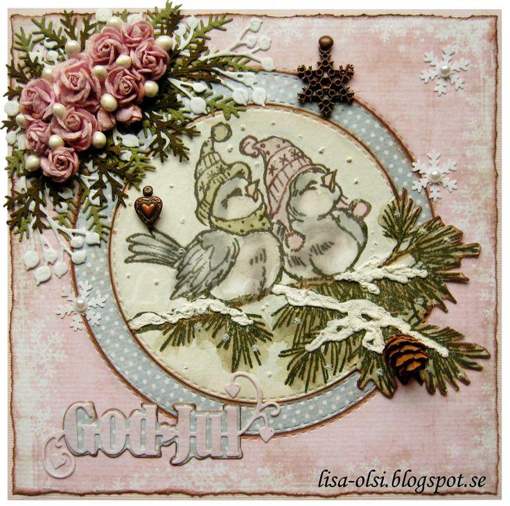 scrapbooking birds stamps christmas watercolor