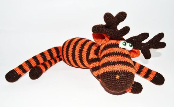 Amigurumi Crochet Moose toy Crochet Moose Stuffed by SimonsCatShop
