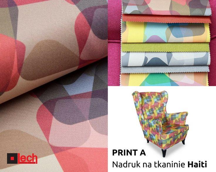 Kolekcja PRINT A - nadruk na tkaninie Haiti, więcej wzorów i kolorów tkanin LECH modern fabrics na stronie:  http://www.lech-tkaniny.pl/oferta/tkaniny-meblowe/