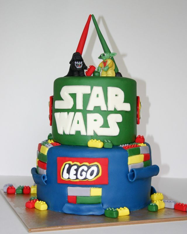 For The 7th Birthday Of My Jedi I Baked Various Cakes That Composed A