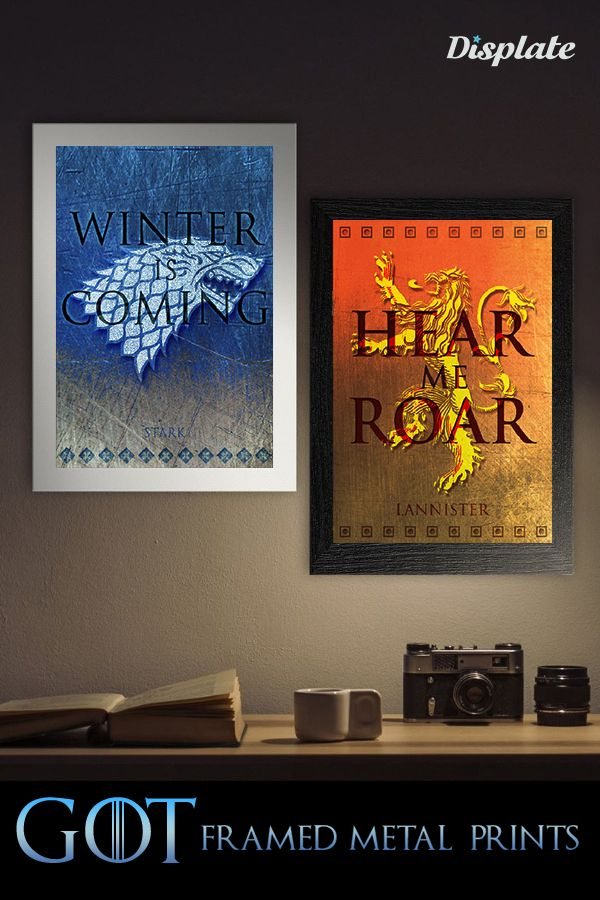fd4a8c043736 Game of Thrones Metal Print Posters Frame Gift by Scar Design. metal print  poster by