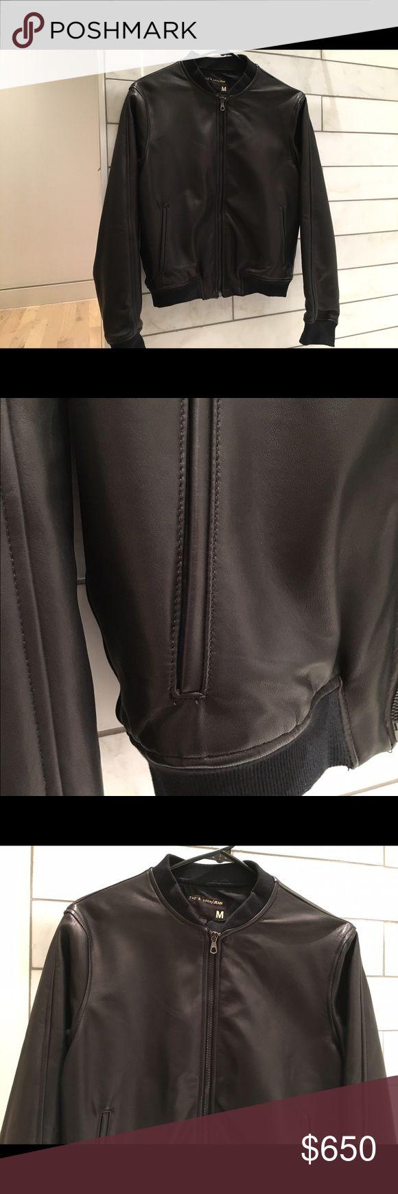 Selling this Rag & Bone lamb skin leather bomber jacket, size m on Poshmark! My username is: ae900. #shopmycloset #poshmark #fashion #shopping #style #forsale #rag & bone #Jackets & Blazers