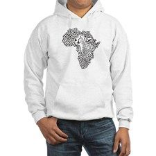Africa in a cheetah camouflage Jumper Hoody