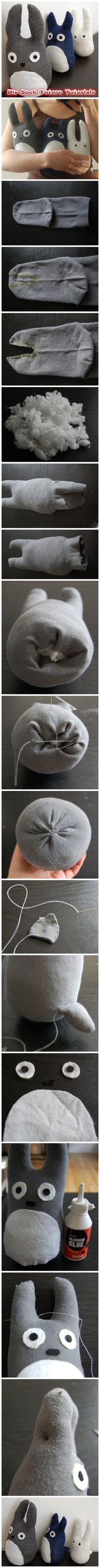 tutoriel chaussettes totoro