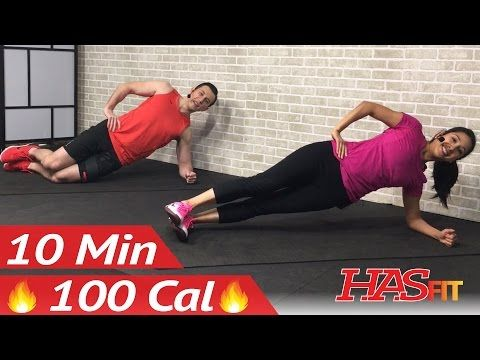 10 minute abs workout for beginners  10 min easy beginner