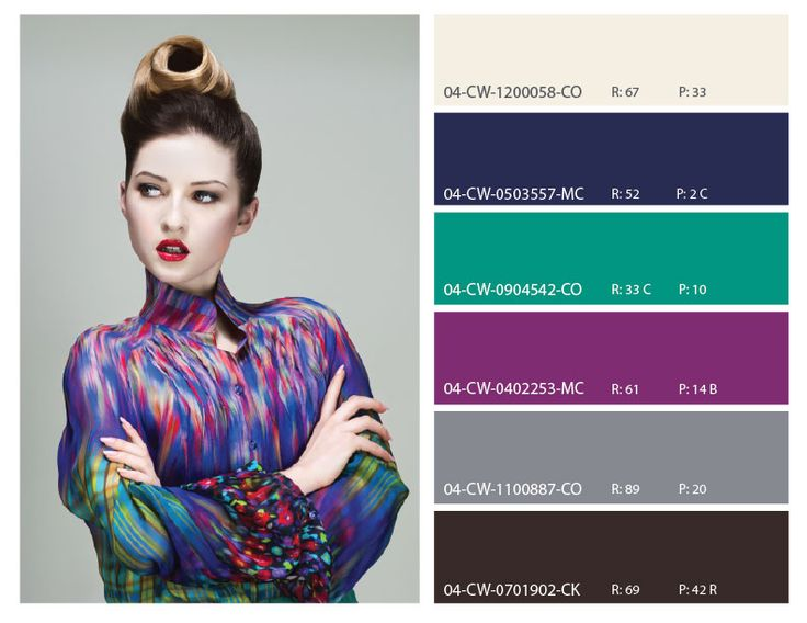 Retro High Fashion Color Scheme Purple Teal And Neutral