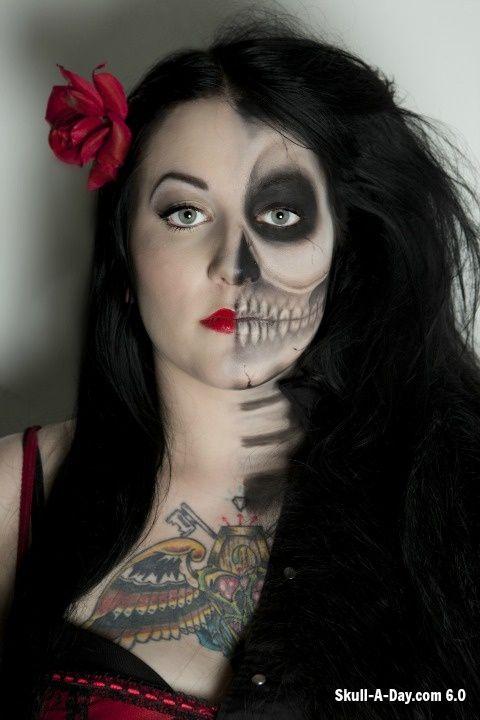 skull makeup halloween diy halloween costumes skull makeup diy halloween costumes - Skull Halloween Decorations