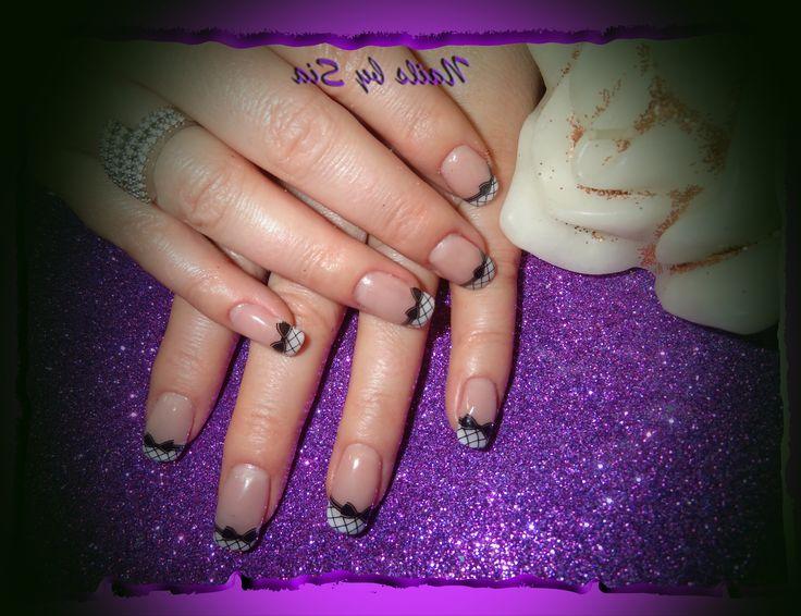 Acrylic - french nail art