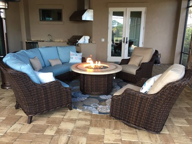 Outdoor Furniture with a Fire Pit316 best Outdoor Furniture images on Pinterest   Outdoor furniture  . Outdoor Living Room Furniture. Home Design Ideas