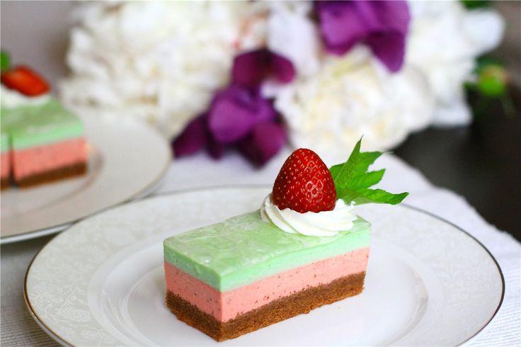 Мятно-клубничные пирожные - Тasty life